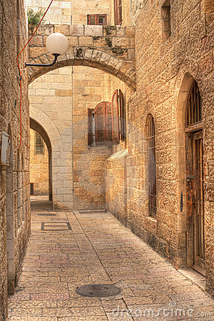 Free Old Street In Jerusalem, Israel. Stock Photography - 18230272