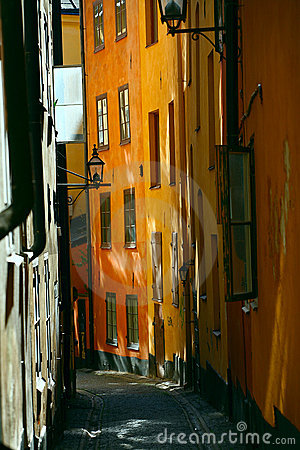 Free Old Street In Stockholm Royalty Free Stock Photography - 3979007