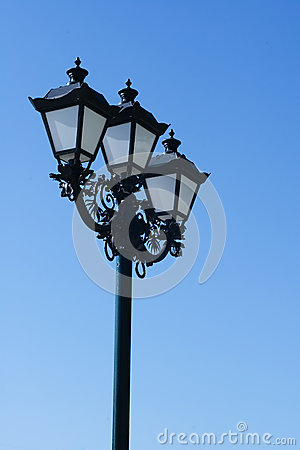 Old street lamp background