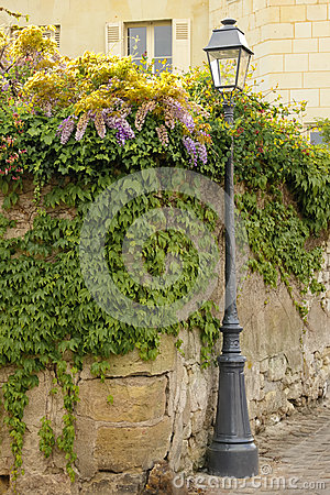 Free Old Street Lamp . Chinon. France Stock Photo - 46163190