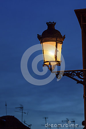Old Street Lamp Walking Street Albaicin Granada Spain