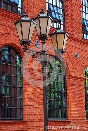 Free Old Street Light Lamp Post In Manufactura Stock Images - 24892714