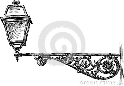 Old Street Light Cartoon Vector