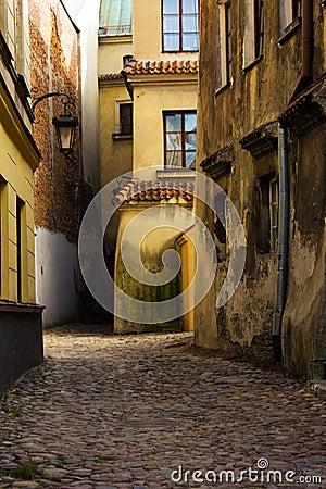 Old street, Lublin, Poland