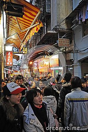 Old street  in macau Editorial Image