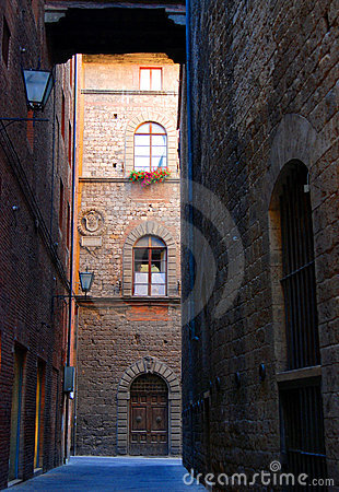 Old Street In Siena Royalty Free Stock Photography - Image: 4221357