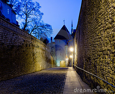 Old street in Tallinn