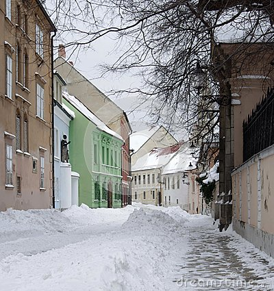 Old street in town Bratislava