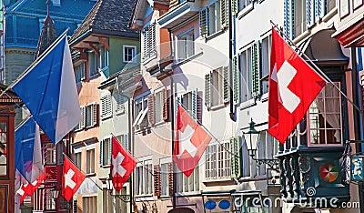 Old street in Zurich
