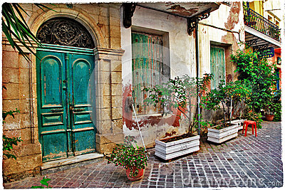 Old streets of Greece, Crete