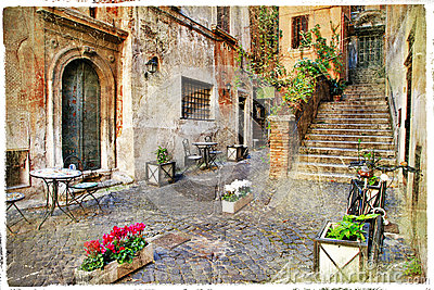 Old streets of Rome