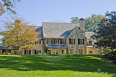 Old Stucco House on Grassy Hill