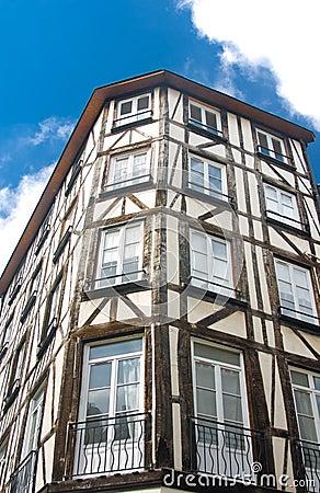 Old Studwork house facade in Rouen