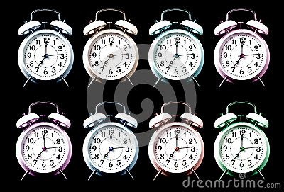 Old style alarm clocks