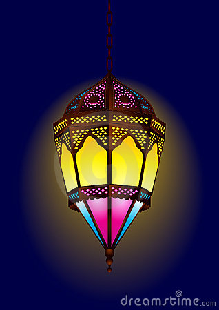 Old style arabic lamp for ramadan / eid
