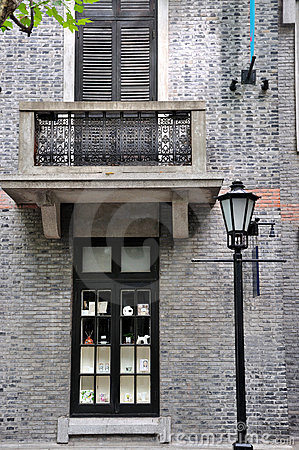 Old style architecture in brick, Shanghai, China