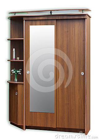 Old style brown wardrobe