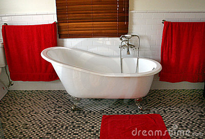 Old style claw foot bath