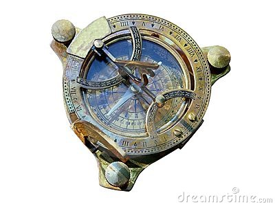 Old style compass top view