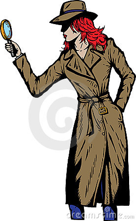 Old style girl detective, such as from the fifties