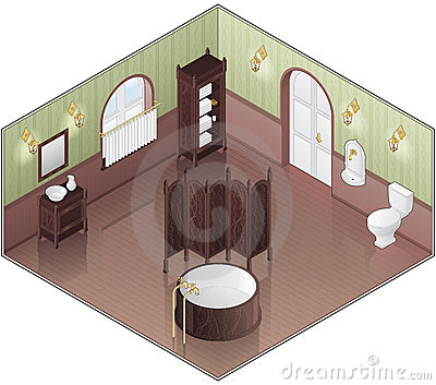 Old Style Green Bathroom