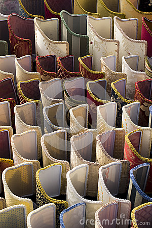 Display of lampshades