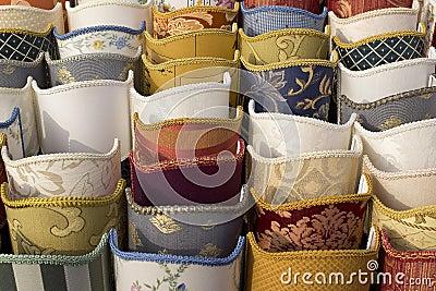Display of lampshades
