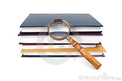 Old style magnifying glass isolated