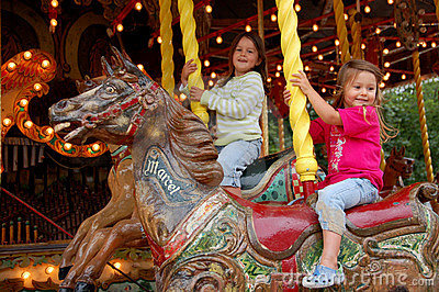 Old style merry-go-round