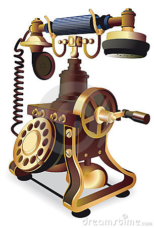 Old-style telephone