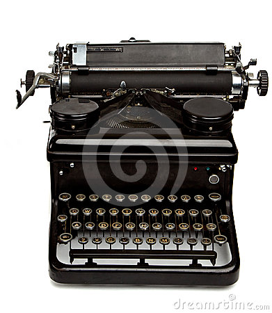 Old Style Typewriter  on White