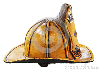 Old style USA firefighter helmet