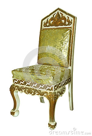 Old style wooden armchair