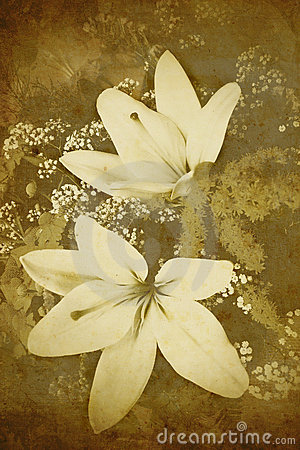 Old-styled flowers background