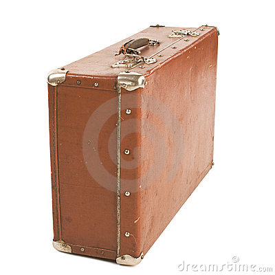Old Suitcase isolated on white