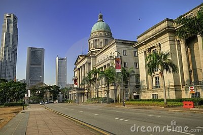 Old Supreme Court, Singapore Editorial Stock Photo