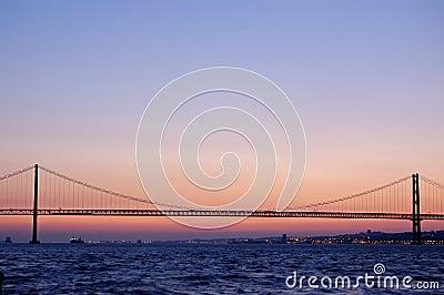 Old suspension bridge, lisbon