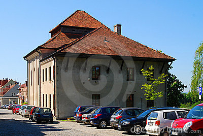 The old synagogue in Sandomierz, Poland Editorial Photo