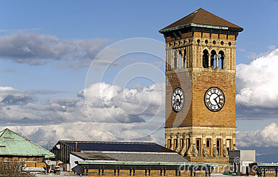 Old Tacoma City Hall Brick Building Architectural Clock Tower