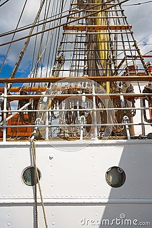 Old tall sailing boat