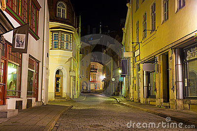 Old Tallinn at night