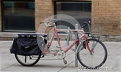 Old tandem bicycle