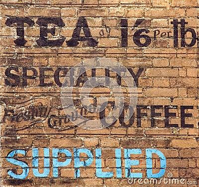 Old tea sign