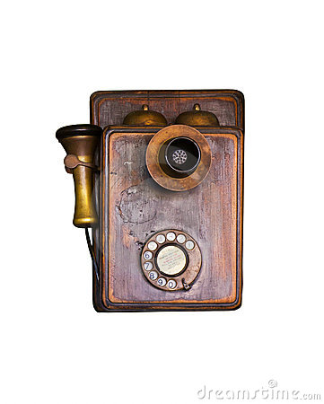An old telephone