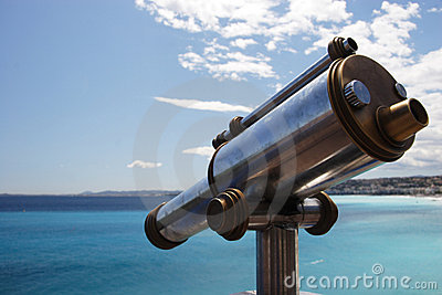 Old telescope and the Med