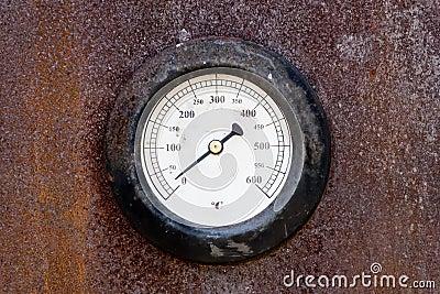 Old temperature gauge