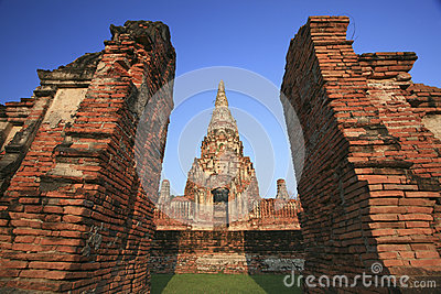 Old temple at Wat Chaiwatthanaram, Ayutthaya province, Thailand.