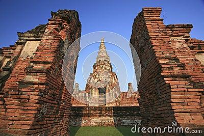 Old temple at Wat Chaiwatthanaram, Ayutthaya province, Thailand.