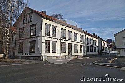 Old tenement house in Halden.
