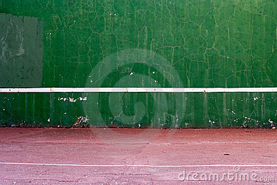 Old tennis backboard stock images image 13021014 for Homemade basketball court